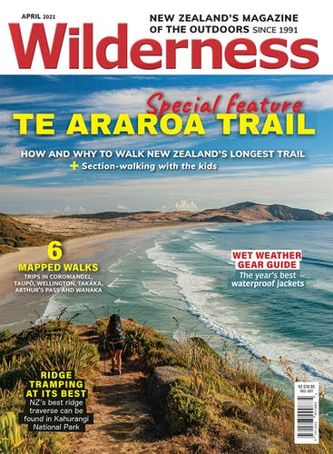 Image of the April 2021 Wilderness Magazine Cover